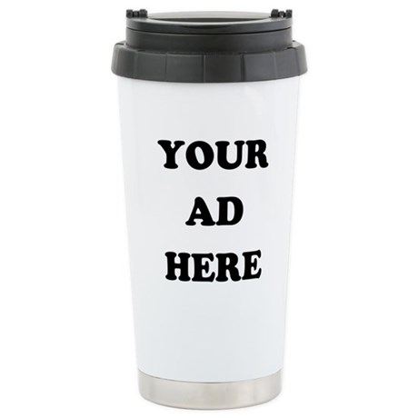 Your Ad Here Ceramic Travel Mug