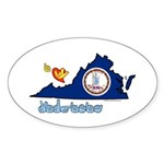 ILY Virginia Sticker (Oval 50 pk)