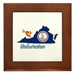 ILY Virginia Framed Tile