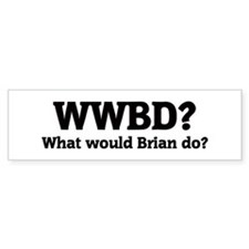 What would Brian do? Bumper Bumper Sticker