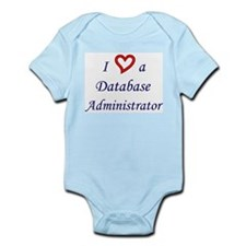 """I Love a DBA"" Infant Creeper"