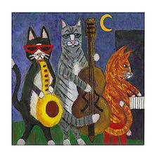 Jazz Cats Tile Coaster