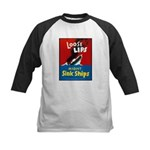 Loose Lips Sink Ships Kids Baseball Jersey