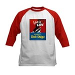 Loose Lips Sink Ships (Front) Kids Baseball Jersey