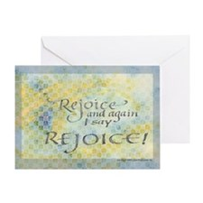 Rejoice calligraphy Greeting Card