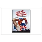 Defend American Freedom Large Poster