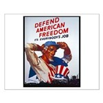 Defend American Freedom Small Poster