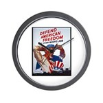 Defend American Freedom Wall Clock