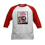 Defend American Freedom (Front) Kids Baseball Jers