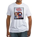 Defend American Freedom (Front) Fitted T-Shirt