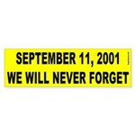 9-11 Bumper Sticker (yellow)
