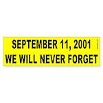 9-11 Bumper Sticker (yellow)