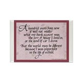 100 Years, Mauve - Rectangle Magnet (10 pack)