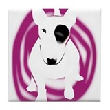 English Bull Terrier dog Tile Coaster