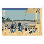 Hokusai Sazai Hall Small Poster
