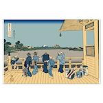 Hokusai Sazai Hall Large Poster