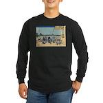 Hokusai Sazai Hall Long Sleeve Dark T-Shirt