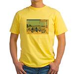 Hokusai Sazai Hall Yellow T-Shirt