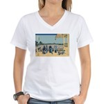 Hokusai Sazai Hall Women's V-Neck T-Shirt