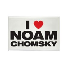 Noam Chomsky Rectangle Magnet