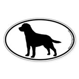 Labrador SILHOUETTE Oval D&#233;calcomanies