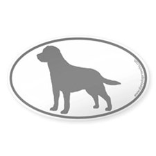 Labrador SILHOUETTE Oval Decal