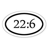 Oval Proverbs 22:6 sticker, Train up a child