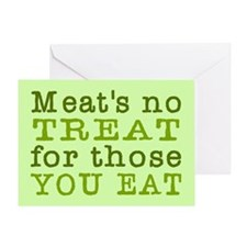 Meat's No Treat Animal Rights Greeting Card