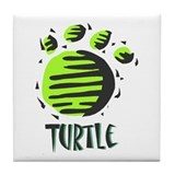 Turtle Print Tile Coaster