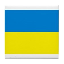 Ukraine Flag Tile Coaster
