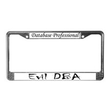 """Evil DBA"" License Plate Frame"