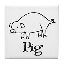Pig Tile Coaster