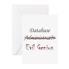 """""""DB Evil Genius"""" Greeting Cards (Pk of 10)"""