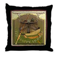 The Happy Hooker Pub Sign Throw Pillow