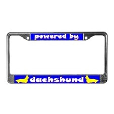 Powered by Dachshund (Longhaired) Lic. Plate Frame