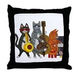 Jazz Cats Throw Pillow