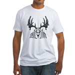 Whitetail deer,tag out Fitted T-Shirt