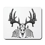 Whitetail deer,tag out Mousepad