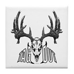 Whitetail deer,tag out Tile Coaster