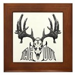 Whitetail deer,tag out Framed Tile