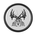 Whitetail deer,tag out Large Wall Clock