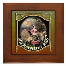 The Milkmaids Ass Pub SIgn Framed Tile
