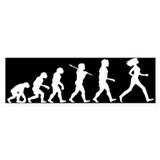 Evolution of Woman Bumper Sticker