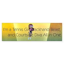 TOP Tennis Court Diva Bumper Sticker