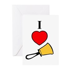 I Love Bells Greeting Cards (Pk of 20)