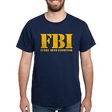 FBI (Furry Butt Inspector) (yellow print) T-Shirt