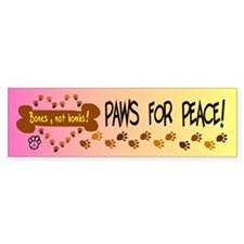 Paws for Peace Bumper Sticker