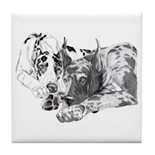 Great Dane Inseparable Tile Coaster