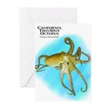 California Two-Spot Octopus Greeting Cards (Pk of
