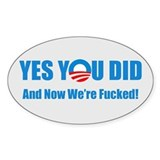 Anti Barack Obama Decal